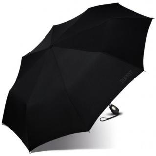 Esprit Taschenschirm Gents Mini Tecmatic 50351 Regenschirm Schwarz