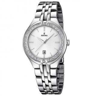 FESTINA F16867/1 TREND Uhr Damenuhr Edelstahl Datum silber