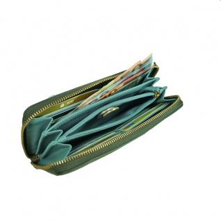 Fossil Geldbörse Emma Large Zip RFID Clutch Grün Damen Leder Börse - Vorschau 3
