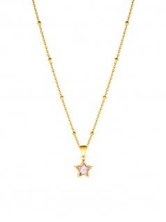 Prinzessin Lillifee 2029721 Mädchen Collier Stern Gold Rosa 38 cm
