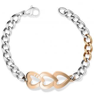 Tommy Hilfiger 2700903 Damen Armband Herzen Edelstahl Rose 19, 5 cm