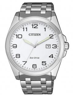 Citizen BM7108-81A Eco Drive Uhr Herrenuhr Edelstahl Datum Silber