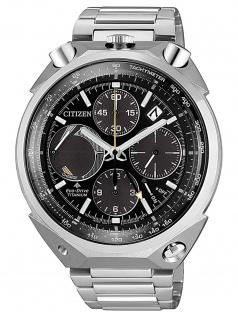 Citizen AV0080-88E Eco Drive Uhr Herrenuhr Titan Datum silber