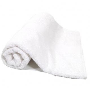 Duschtuch Weiß Frottee Baumwolle 500g/m2 Handtuch 70 x 140 cm