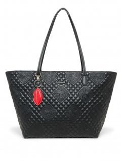 Desigual Damen Handtasche Tasche Shopper CLAUDIA CAPRI ZIPPER Schwarz