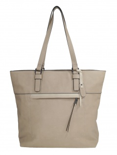 Esprit Damen Handtasche Tasche Shopper Mara shopper Beige