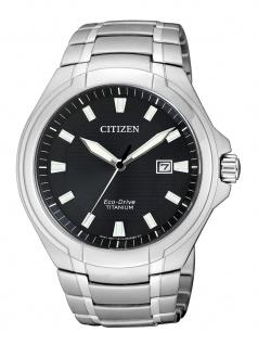 Citizen BM7430-89E Uhr Herrenuhr Titan Datum Silber