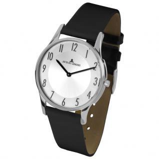 Jacques Lemans 1-1851B Uhr Damenuhr Lederarmband Schwarz