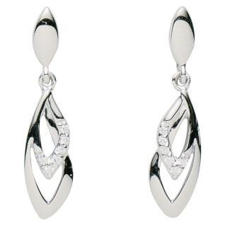 Basic Silber 01.2338 Damen Ohrstecker Silber Zirkonia weiß