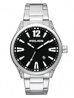 POLICE PL.15244JBS/02M DENTON Uhr Herrenuhr Edelstahl Datum Silber