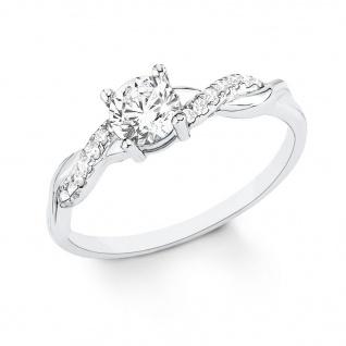 s.Oliver 9079360 Damen Ring Sterling-Silber 925 Silber Weiß 58 (18.5)