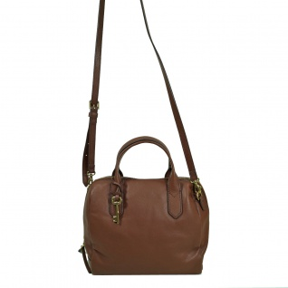 Fossil Fiona Satchel Braun Leder Handtasche Tasche Schultertasche