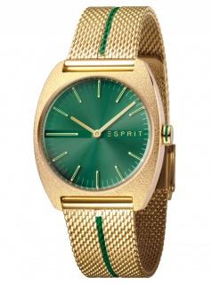 Esprit ES1L035M0075 Spectrum Green Gold Mesh Damenuhr Edelstahl Gold