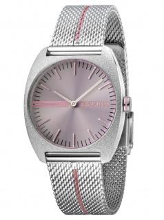 Esprit ES1L035M0055 Spectrum Purple Stripe Mesh Damenuhr Edelstahl
