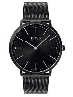 Hugo Boss 1513542 Uhr Herrenuhr Edelstahl Schwarz