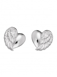Herzengel HEE-HEARTWING Mädchen Ohrstecker Herz Herzflügel Silber