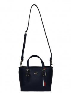 Tommy Hilfiger Damen Handtasche Tasche Honey S Tote Blau AW0AW07932