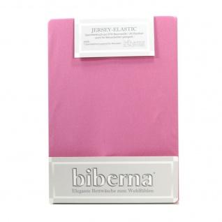 Biberna 77866-332 Jersey Elastic Spannbetttuch Lila 180x200 200x220