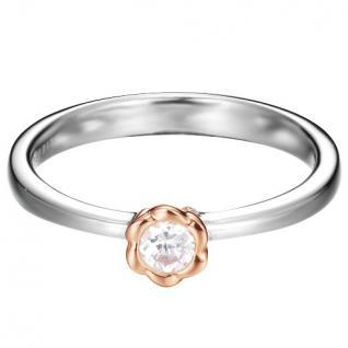 Esprit Damen Ring ES-PETITE ROSE Silber Weiß 56 (17.8)
