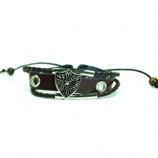 CJBB6446 Damen Armband Surfer Leder braun