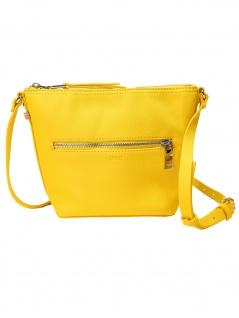 Esprit Damen Handtasche Tasche Schultertasche Debby M shoulderbag Gelb