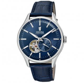 FESTINA F16975/2 Uhr Herrenuhr Lederarmband blau