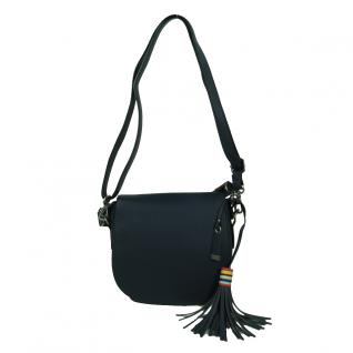Esprit Wendy Saddlebag Blau Leder Handtasche Schulter Umhänge Tasche
