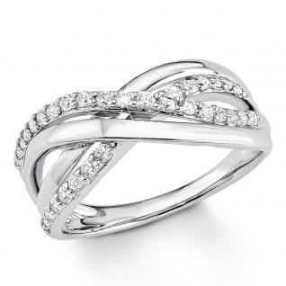 s.Oliver 9080588 Damen Ring Sterling-Silber 925 Silber Weiß 58 (18.5) - Vorschau 1