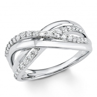 s.Oliver 9080588 Damen Ring Sterling-Silber 925 Silber Weiß 58 (18.5)