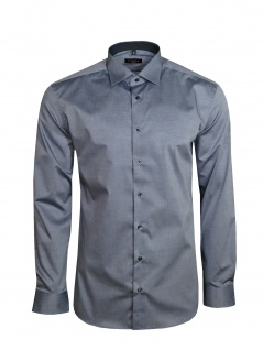 Eterna Herren Hemd Langarm Slim Fit Hemden 8888/32/F140 Grau L/41