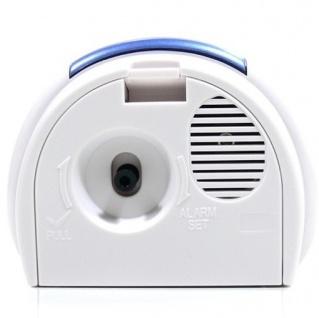 W&S 201119 Wecker Uhr blau-weiß leise Sekunde Analog Licht Alarm - Vorschau 2