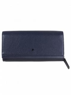 Esprit Damen Geldbörse Portemonnaies Ida flat clutch Blau