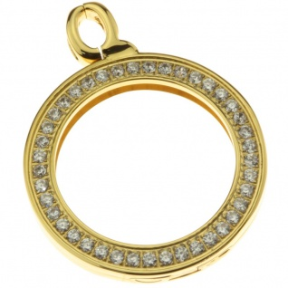 Quoins QHO-16S-G Damen Anhänger Rahmen gold small Edelstahl