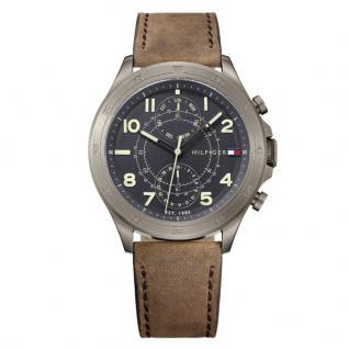 Tommy Hilfiger 1791343 Hudson Uhr Herrenuhr Lederarmband Datum Braun