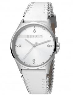 Esprit ES1L032L0015 Drops 01 Silver White Uhr Damenuhr Edelstahl Weiß