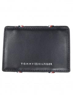 Tommy Hilfiger Herren Kreditkartenetui Flip CC Holder Leder Schwarz