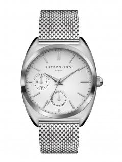 LIEBESKIND LT-0038-MM Uhr Damenuhr Edelstahl Datum Silber