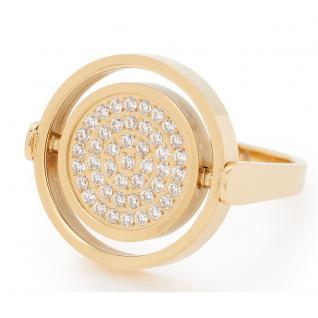 Leonardo 016034 Damen Ring Libertino Edelstahl Gold weiß 56 (17.8)