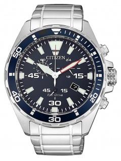 Citizen AT2431-87L Uhr Herrenuhr Edelstahl Chrono Datum Silber