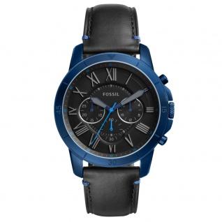 Fossil FS5342 GRANT SPORT Chronograph Uhr Herrenuhr Leder schwarz