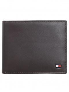 Tommy Hilfiger Herren Kreditkartenetui Eton Mini CC Wallet Leder Braun