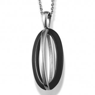 GOOIX 415-1825 Damen Collier Edelstahl Keramik schwarz 46, 5 cm