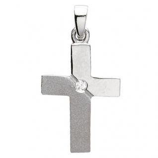 Basic Silber 27.9191S Damen Anhänger Kreuz Silber Zirkonia weiß