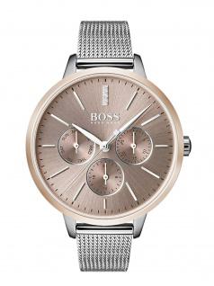 Hugo Boss 1502423 SYMOY Uhr Damenuhr Edelstahl Datum Silber