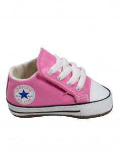 Converse Baby Kinder Schuhe CT All Star Cribster Mid Rosa Leinen 18 EU