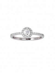 XENOX XS7366-54 Damen Ring Silver Circle Silber Weiß 54 (17.2)