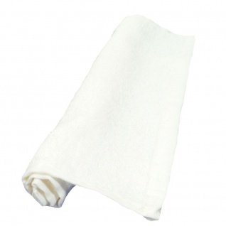 NatureMark 12er Pack Frottier Seiftücher 30 x 30 cm, 100% Baumwolle, weiß