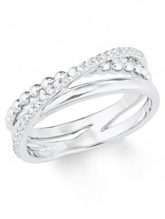 s.Oliver 2022744 Damen Ring Sterling-Silber 925 Silber Weiß 52 (16.6)