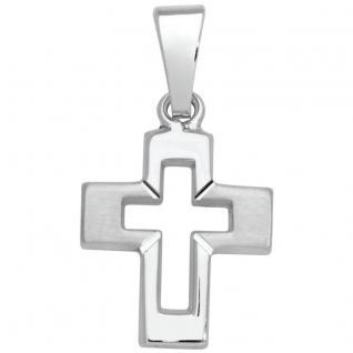 Basic Silber SKE14 Kinderschmuck Anhänger Kinder Kreuz Silber - Vorschau 1