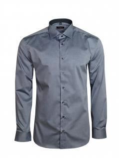 Eterna Herren Hemd Langarm Slim Fit Hemden 8888/32/F140 Grau S/38